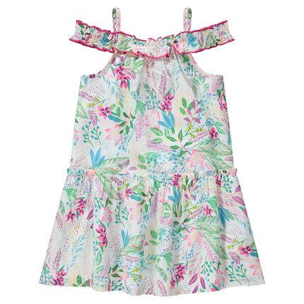 Robe à épaules ajourées et imprimé floral all-over