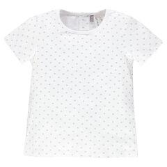 Tee-shirt manches courtes avec étoiles imprimées all-over