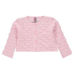 Gilet en tricot à pois reliefés en jacquard éponge