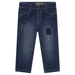 Jeans droit effet used