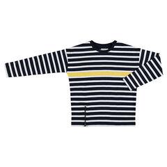 Junior - Marinière en jersey avec bande contrastée et zip fantaisie