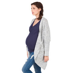 Cardigan de grossesse en maille chinée
