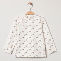 Sous-pull en coton bio print noeuds de Minnie Disney