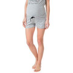 Short homewear de grossesse imprimé all-over