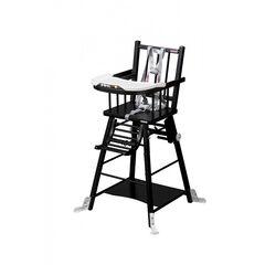 Chaise haute évolutive transformable Marcel - Laqué noir