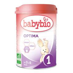 Lait en poudre 1er âge au lait de vache bio Optima 1 - 800g
