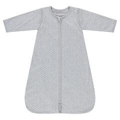 Turbulette en jersey imprimée pois à manches amovibles