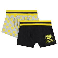 Lot de 2 boxers en coton avec prints ©Transformers