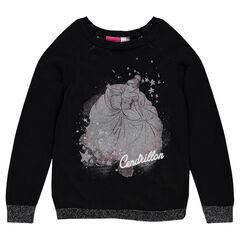 Pull en tricot Disney avec Cendrillon printée