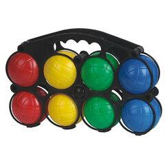 Jeu de 8 boules de pétanque multicolores