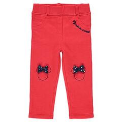 Jegging en jersey rouge avec sertis Minnie brodés et noeuds 1482168aa53