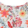 Junior - Robe en maille avec fleurs imprimées all-over