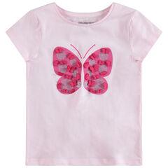 Tee-shirt manches courtes avec motif printé et détails en relief