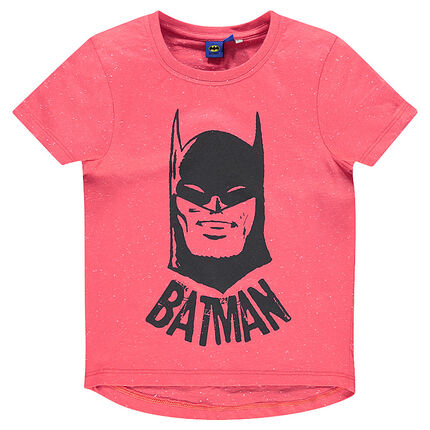 Tee-shirt manches courtes aspect neps print BATMAN