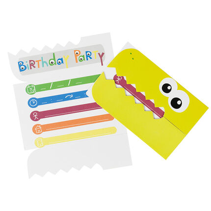 Lot de 10 cartes d'invitation anniversaire Dragon