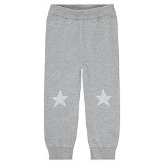 Pantalon en tricot avec motif en jacquard sur les genoux