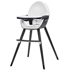 Chaise haute évolutive Fini 2-en-1 - Noir/Blanc