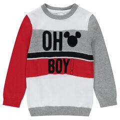 Pull en tricot fin avec motif Mickey ©Disney