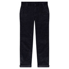 Junior - Pantalon coupe slim en velours