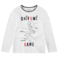 Junior - Tee-shirt manches longues en jersey avec symboles printés