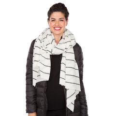 Echarpe en tricot à rayures jacquard