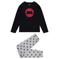 Junior - Pyjama avec badge ©Warner Batman et pantalon à étoiles