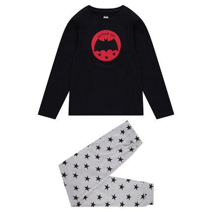 Junior - Pyjama avec badge Warner Batman et pantalon à étoiles
