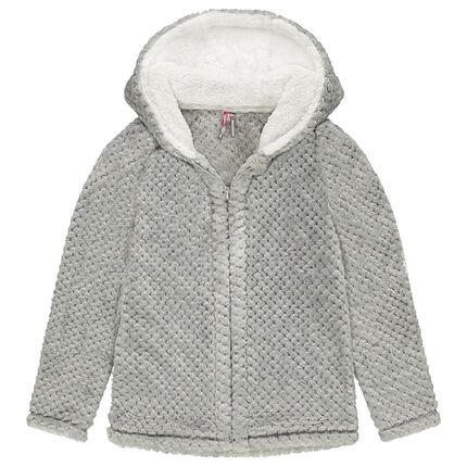 Junior - Veste à capuche en sherpa