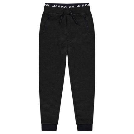 Junior - Pantalon de jogging en molleton ottoman