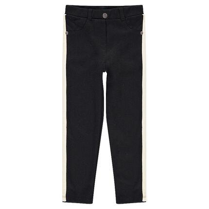 Jegging en milano avec bandes contrastées et poches
