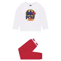 Pyjama bicolore en molleton print BATMAN