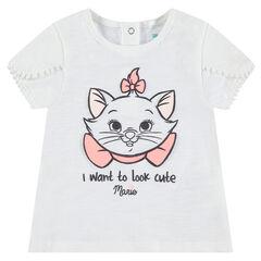 Tee-shirt en coton organique print Marie Aristochats ©Disney
