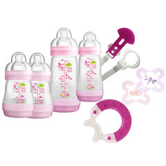 Set biberons nouveau-né Welcome to the World Premium - Rose