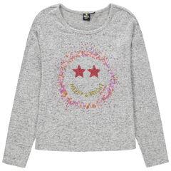 Junior - T-shirt manches longues avec sequins Smiley