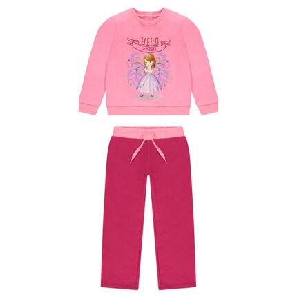Ensemble de jogging en molleton rose Disney Princesse Sofia