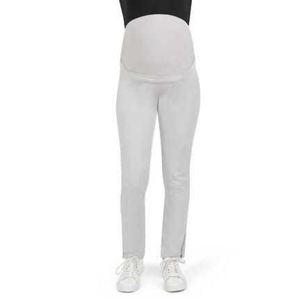 Pantalon de grossesse 7/8ème en twill avec zips