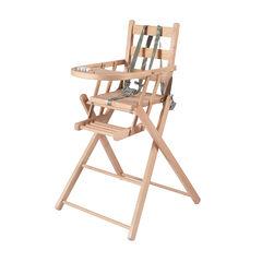 Chaise haute Sarah extra-pliante – Vernis Naturel  , Combelle