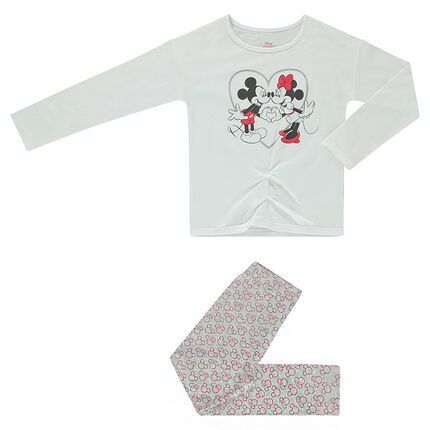 Pyjama en jersey ©Disney print Mickey et Minnie