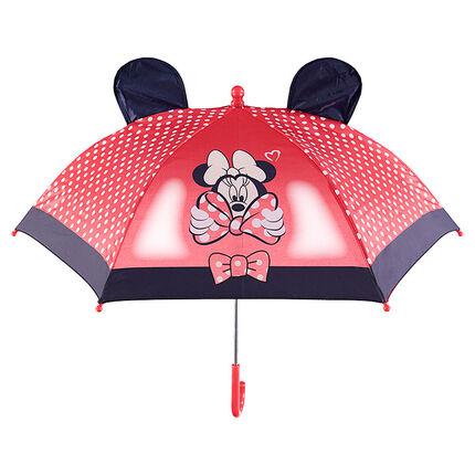 Parapluie Minnie Disney avec pois printés et oreilles en relief