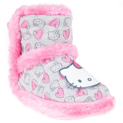 40992ded6cf Chaussons bottines Hello Kitty avec fausse fourrure - Orchestra FR