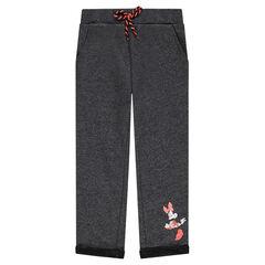 Pantalon en molleton chiné print Disney Minnie