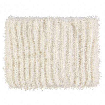 Snood en tricot effet poil avec doublure en sherpa