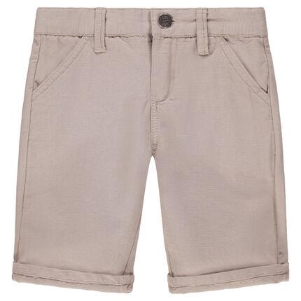 Bermuda en coton fantaisie à poches