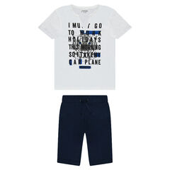 Junior - Ensemble avec tee-shirt manches courtes printé et bermuda