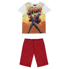 Pyjama avec tee-shirt manches courtes DC Comics print Superman et bermuda