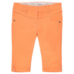 Corsaire en twill orange