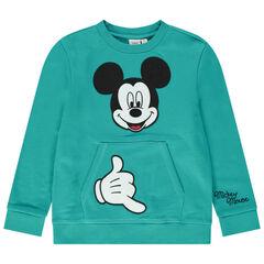 Sweat en molleton avec poche kangourou et Mickey brodé Disney