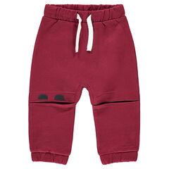Pantalon de jogging en molleton avec découpes genoux et personnages printés