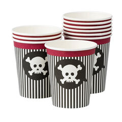 x 10 gobelets anniversaire Pirate motif tête de mort