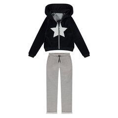 Junior - Jogging avec veste en velours et pantalon en molleton